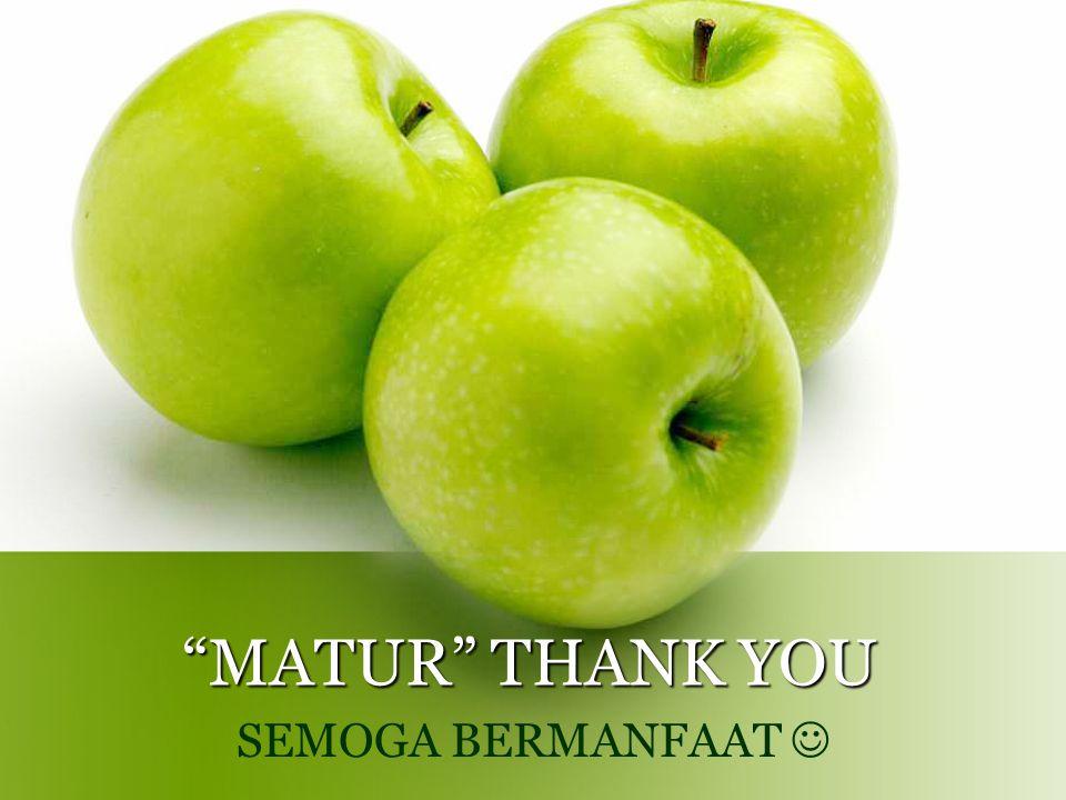 MATUR THANK YOU SEMOGA BERMANFAAT 