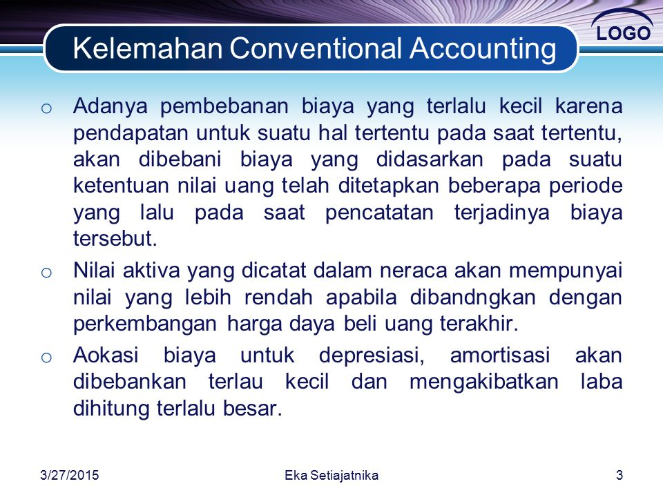 Kelemahan Conventional Accounting