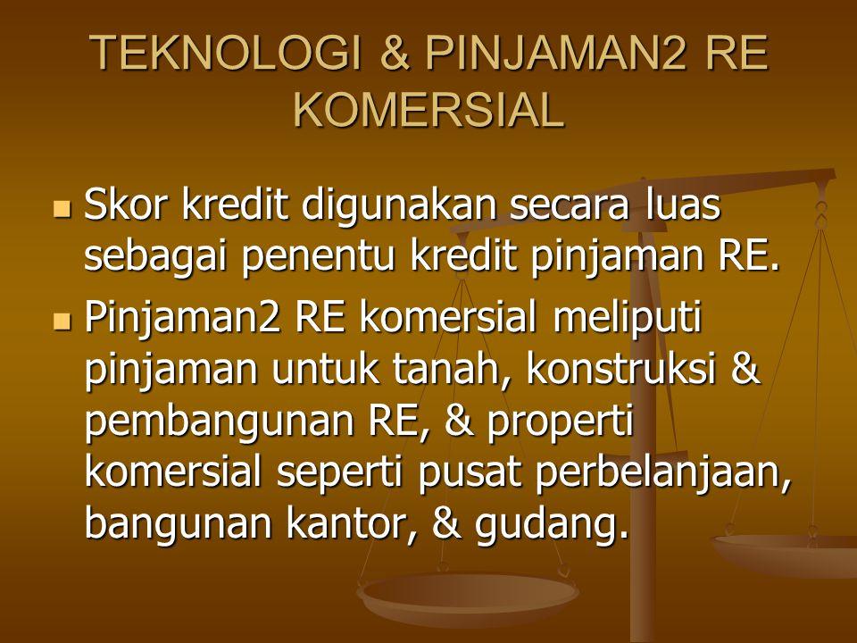 TEKNOLOGI & PINJAMAN2 RE KOMERSIAL