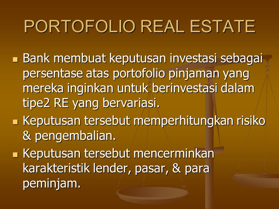 PORTOFOLIO REAL ESTATE