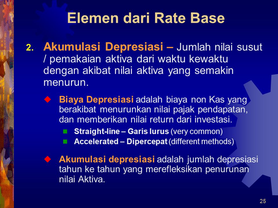 Elemen dari Rate Base