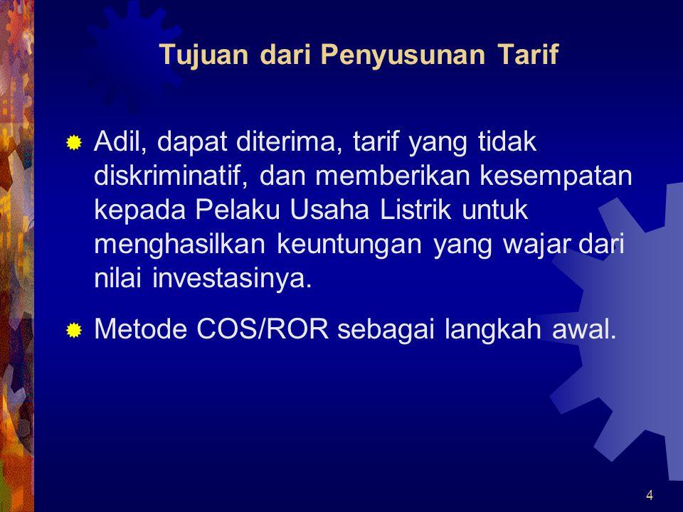 Tujuan dari Penyusunan Tarif