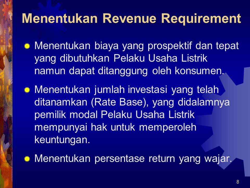 Menentukan Revenue Requirement