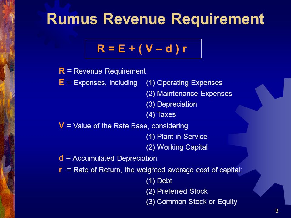 Rumus Revenue Requirement