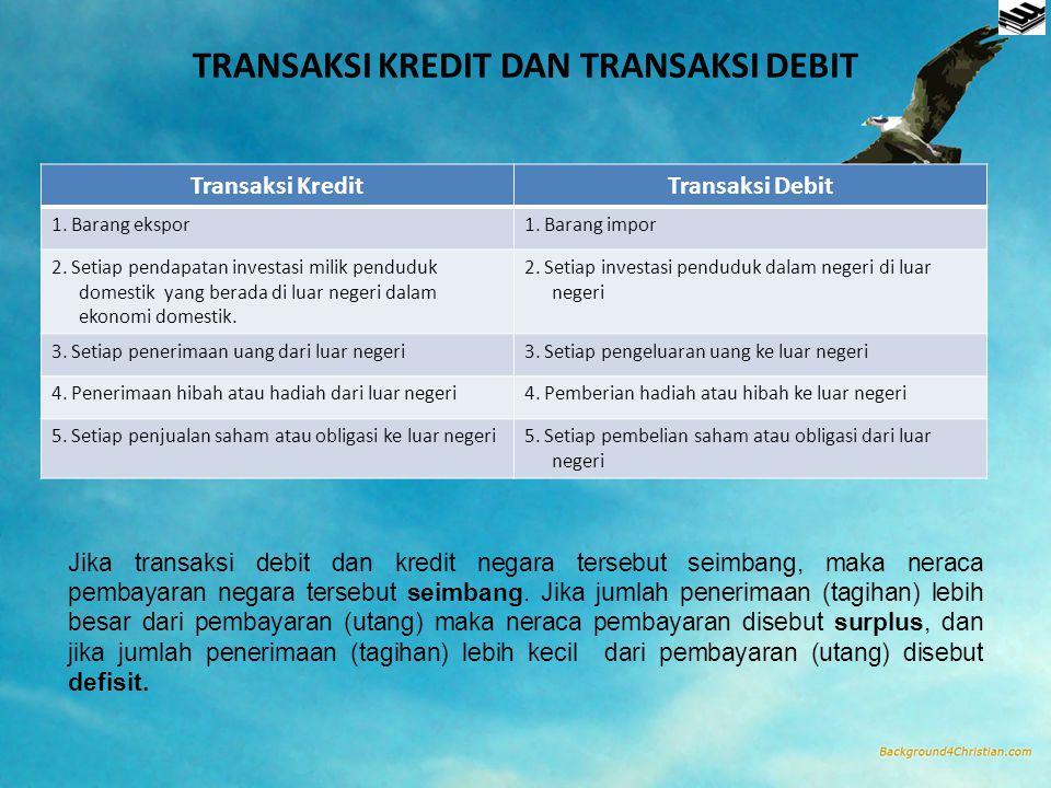 TRANSAKSI KREDIT DAN TRANSAKSI DEBIT