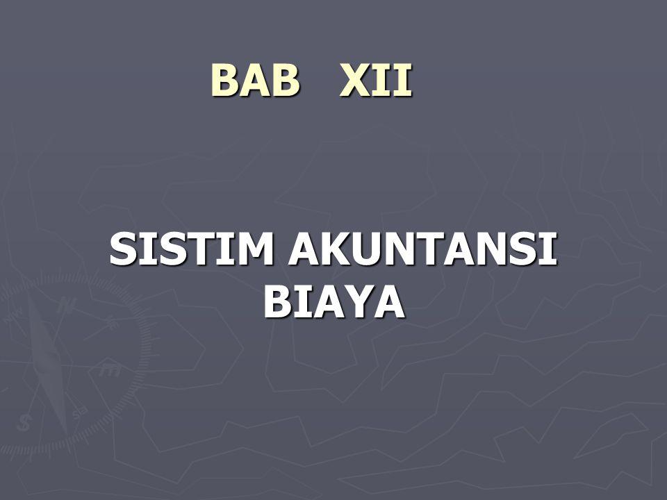 SISTIM AKUNTANSI BIAYA