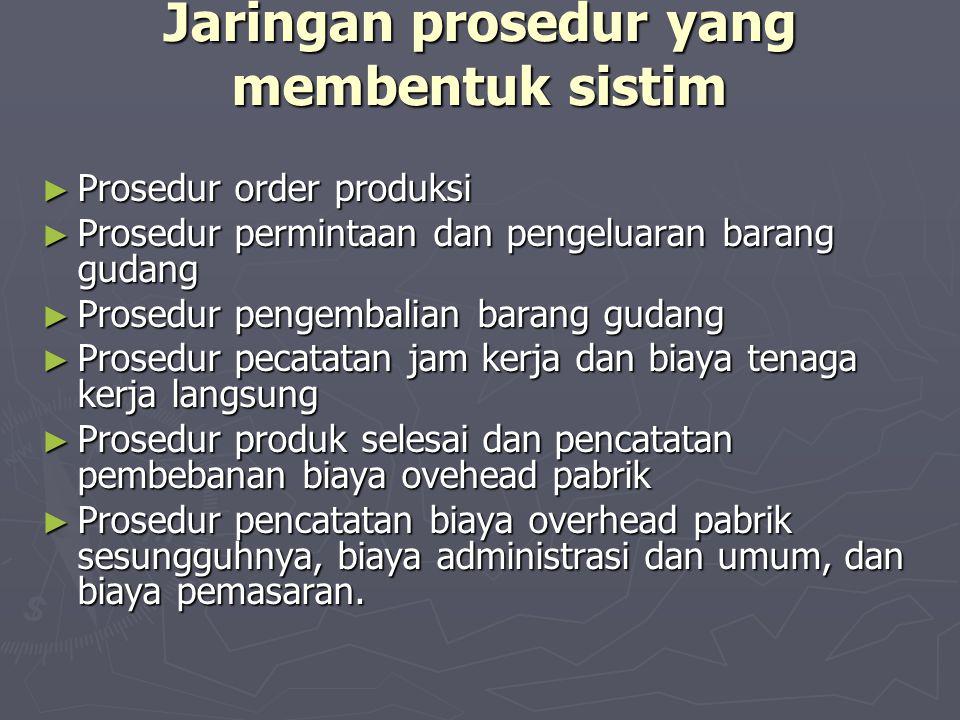 Jaringan prosedur yang membentuk sistim