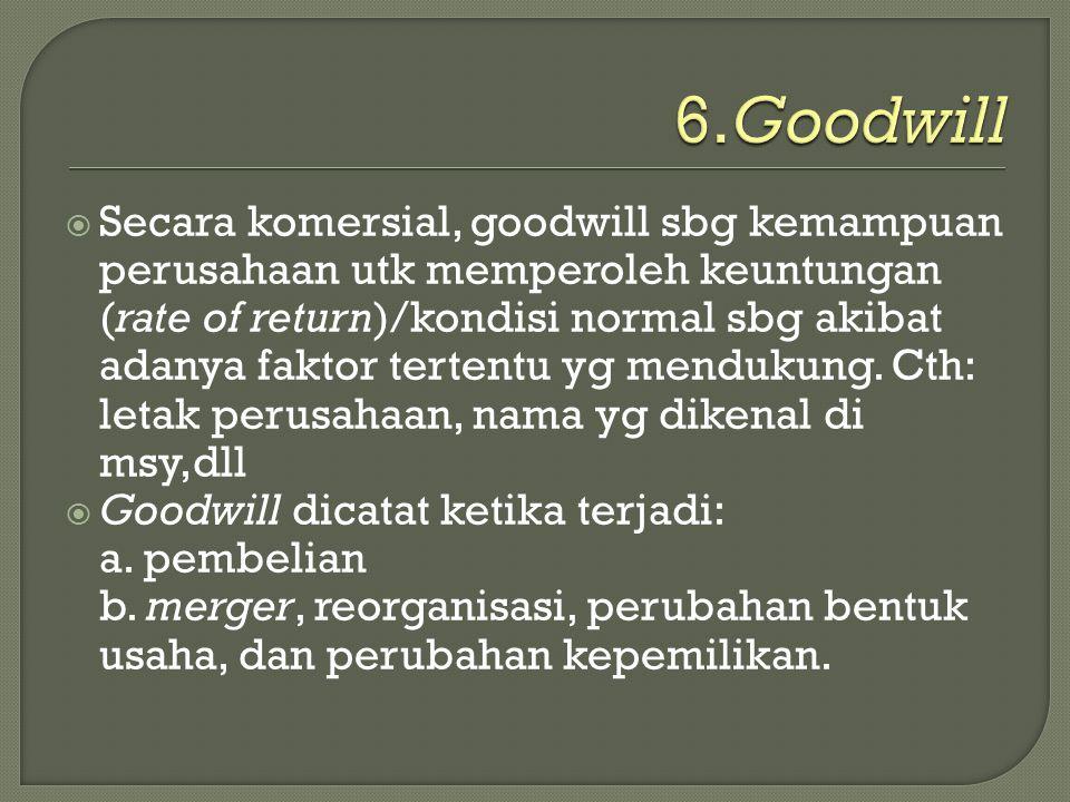 6.Goodwill