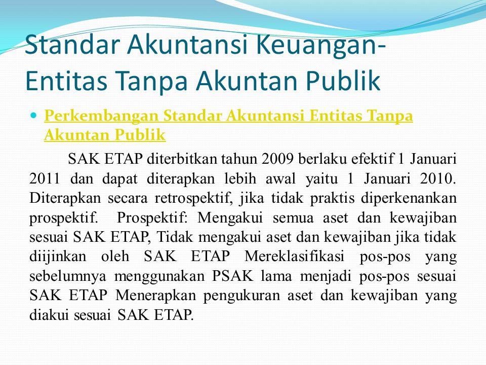 Standar Akuntansi Keuangan-Entitas Tanpa Akuntan Publik