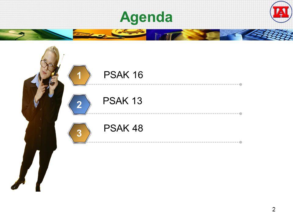 Agenda 1 PSAK 16 PSAK 13 2 PSAK 48 3