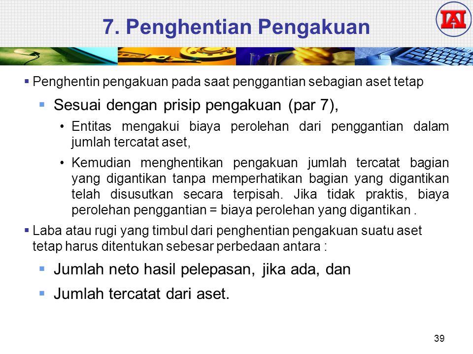 7. Penghentian Pengakuan