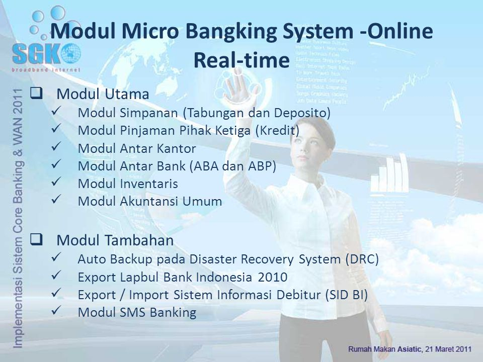 Modul Micro Bangking System -Online Real-time