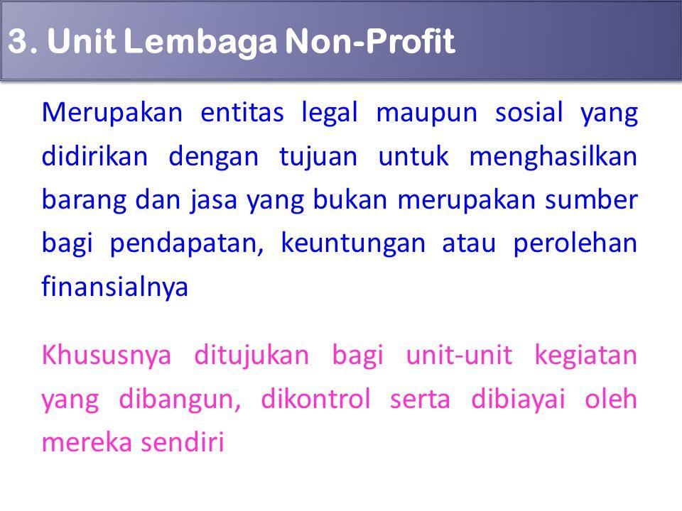 3. Unit Lembaga Non-Profit