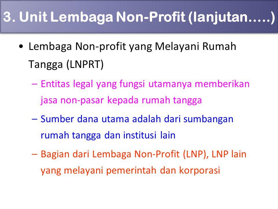 3. Unit Lembaga Non-Profit (lanjutan…..)
