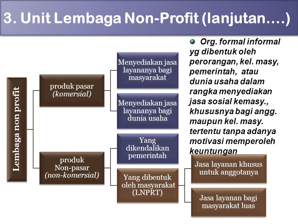 3. Unit Lembaga Non-Profit (lanjutan….)