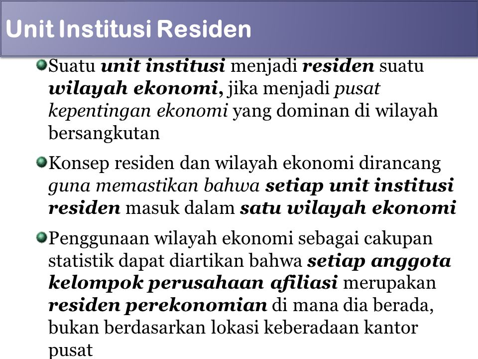 Unit Institusi Residen