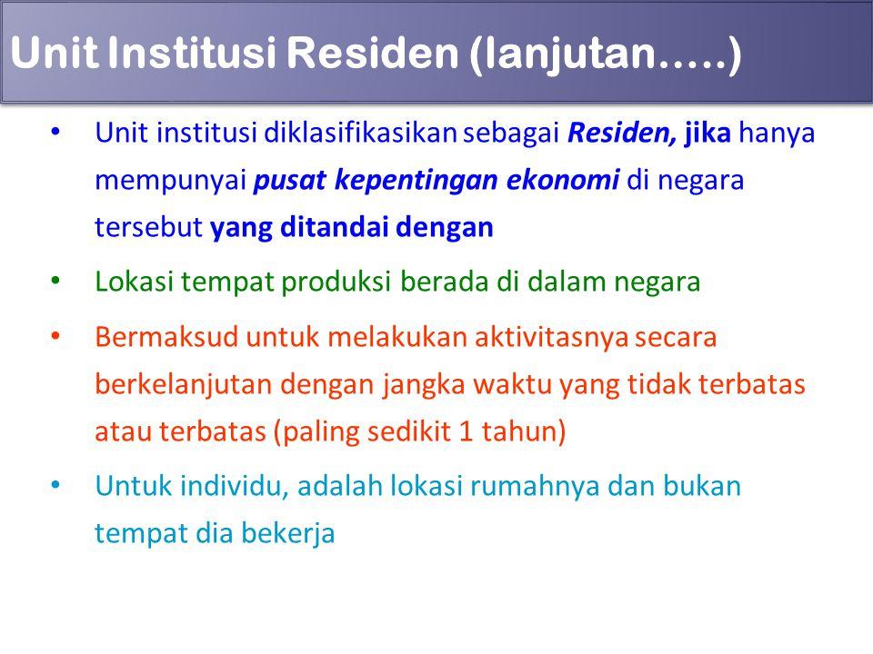 Unit Institusi Residen (lanjutan…..)