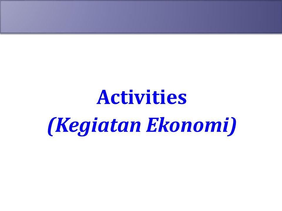 Activities (Kegiatan Ekonomi)