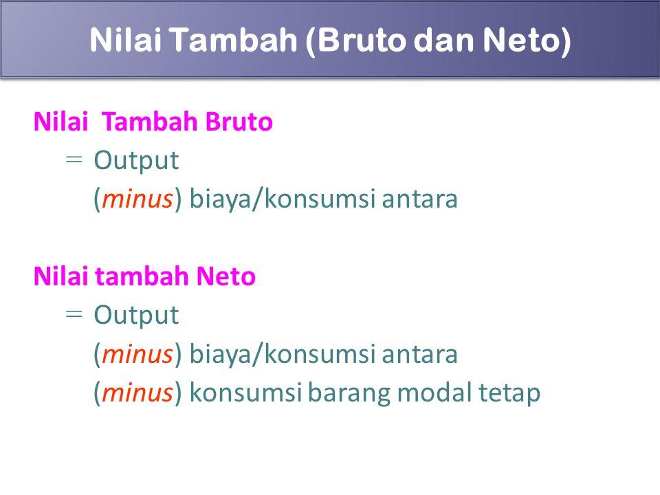 Nilai Tambah (Bruto dan Neto)