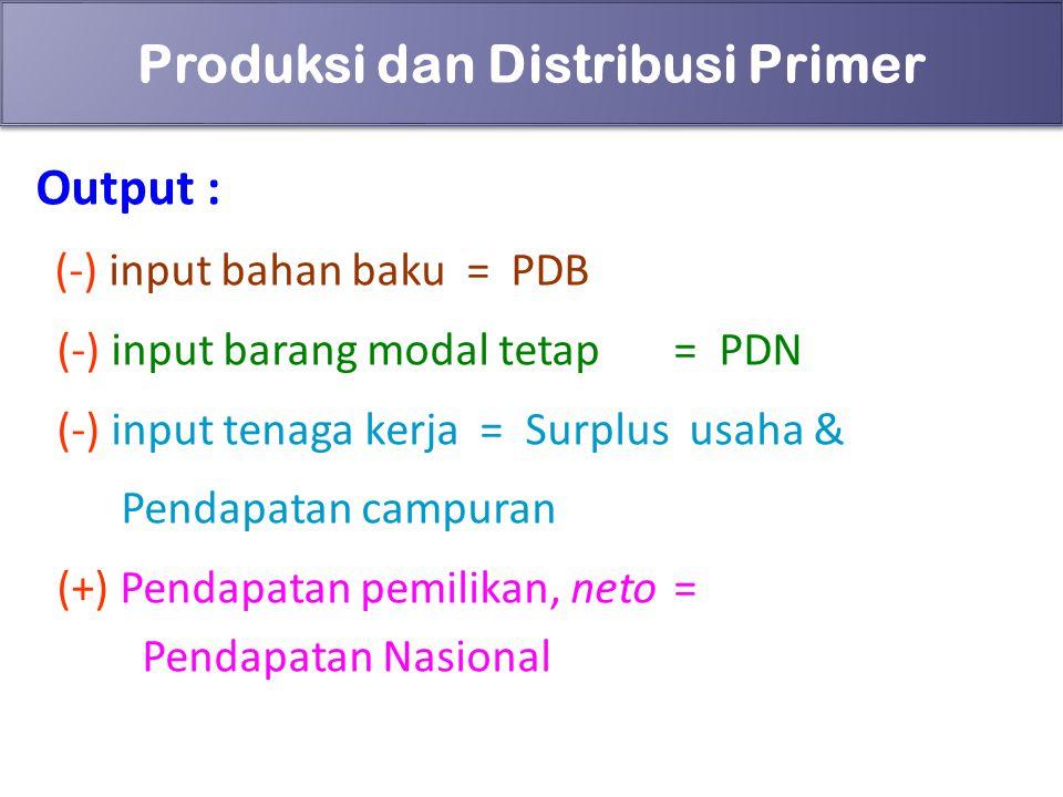 Produksi dan Distribusi Primer