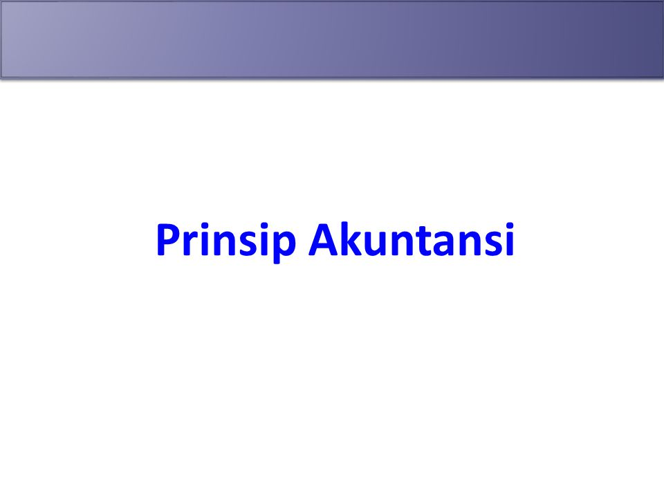 Prinsip Akuntansi