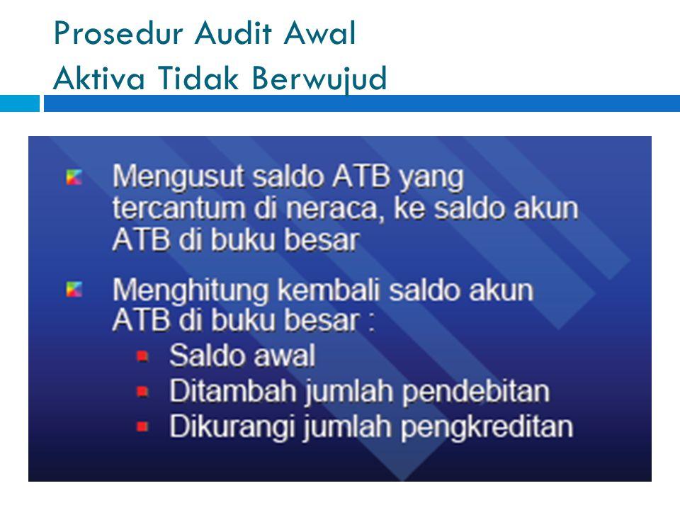Prosedur Audit Awal Aktiva Tidak Berwujud