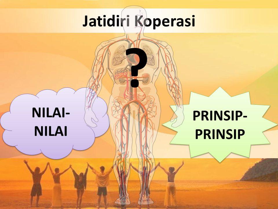 Jatidiri Koperasi NILAI-NILAI PRINSIP-PRINSIP