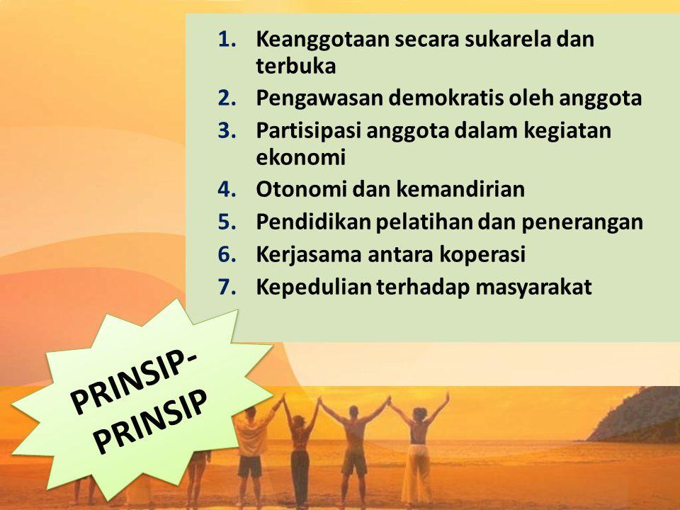 PRINSIP-PRINSIP Keanggotaan secara sukarela dan terbuka