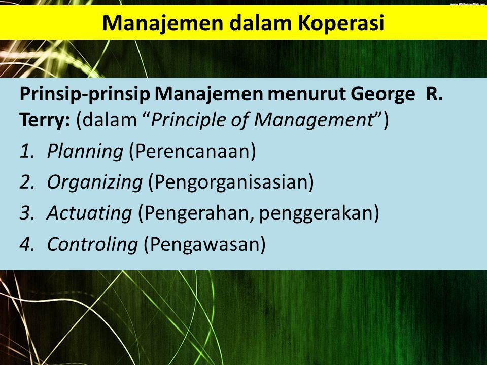 Manajemen dalam Koperasi