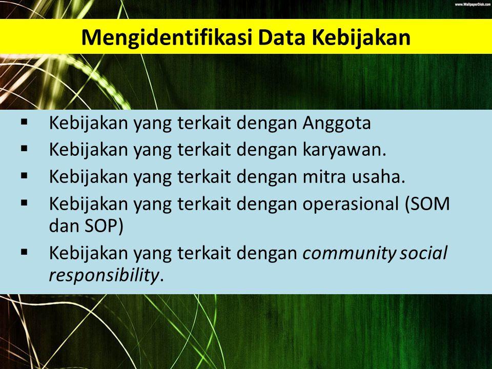 Mengidentifikasi Data Kebijakan