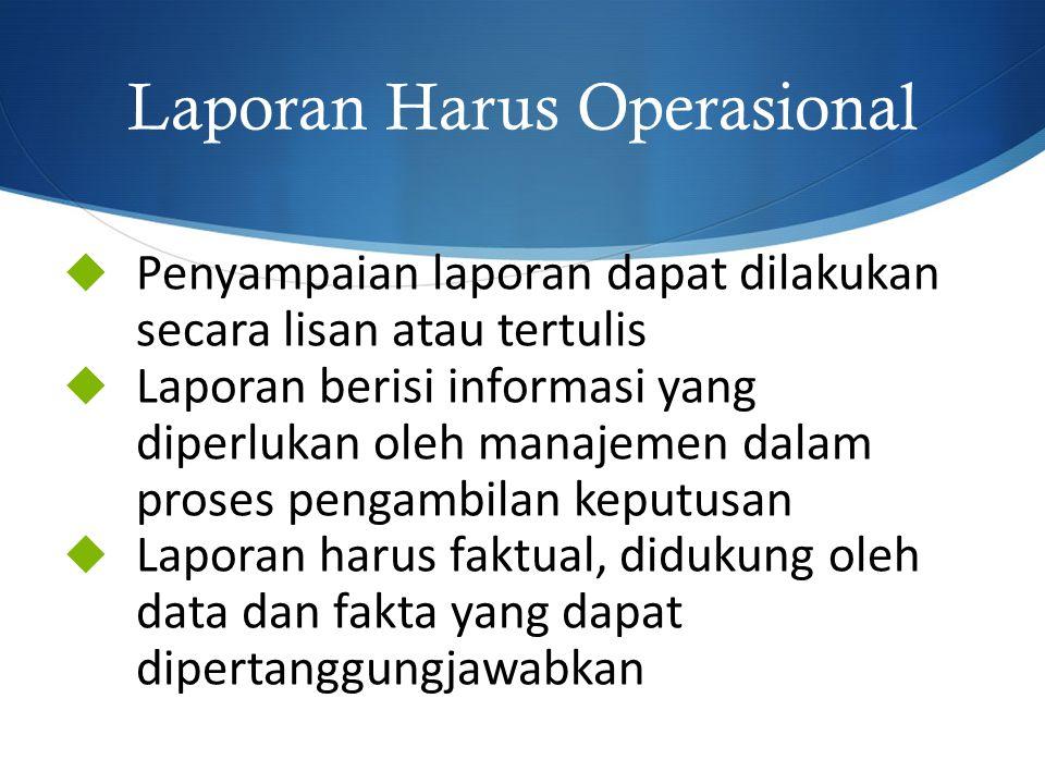 Laporan Harus Operasional