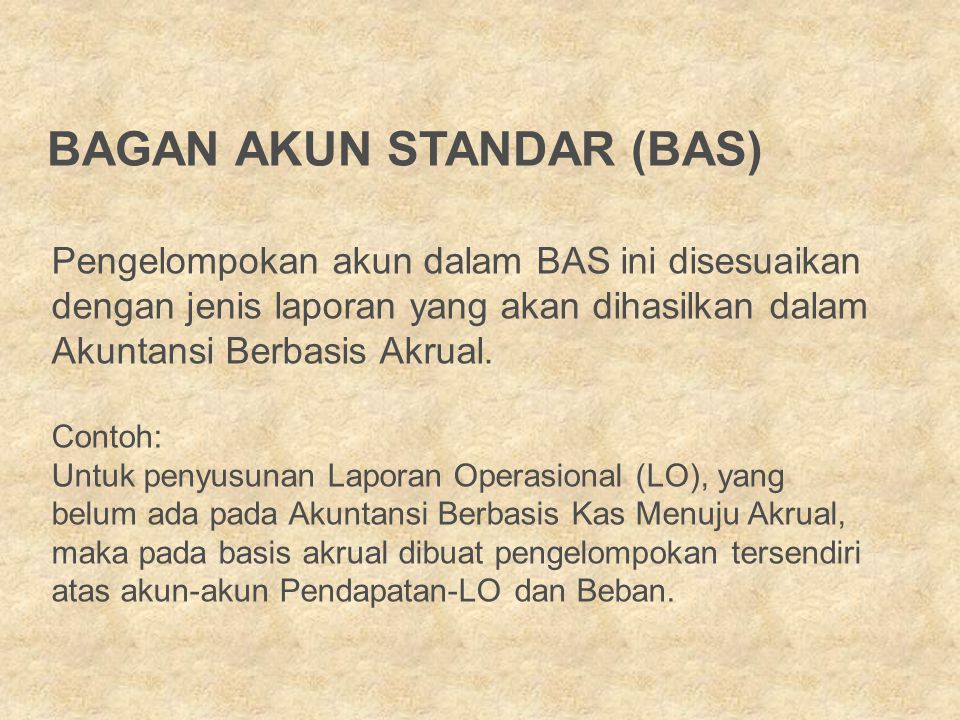 BAGAN AKUN STANDAR (BAS)