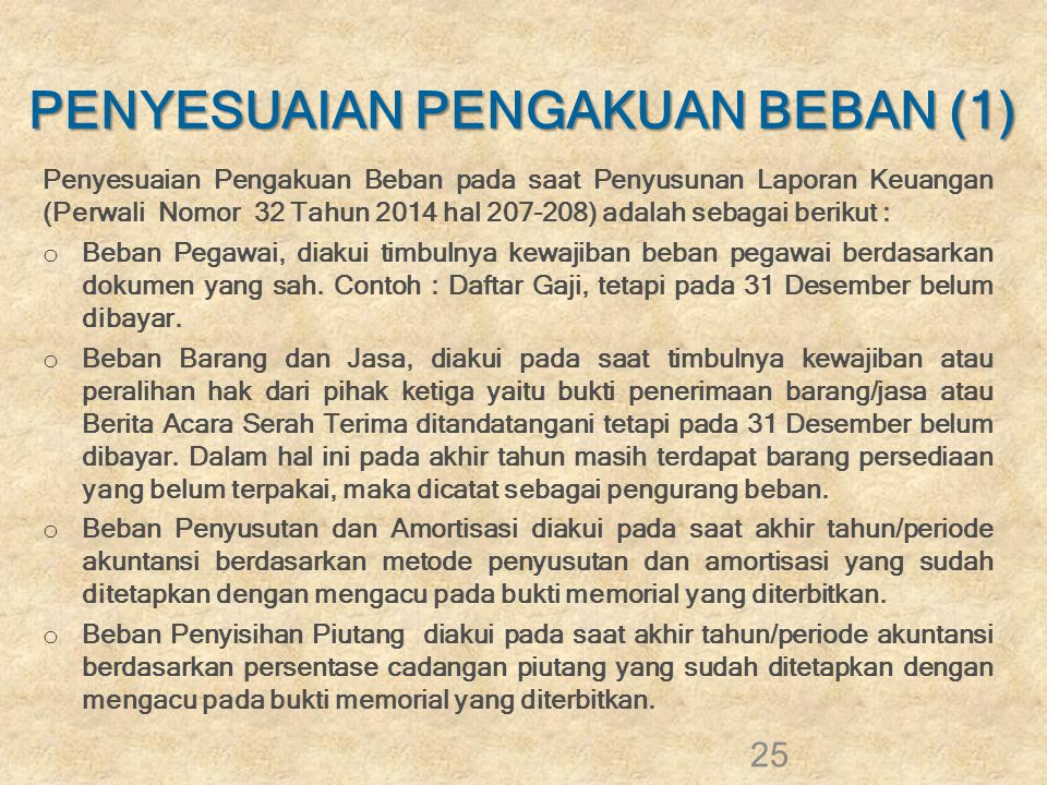 PENYESUAIAN PENGAKUAN BEBAN (1)