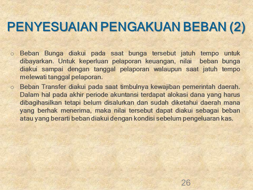 PENYESUAIAN PENGAKUAN BEBAN (2)