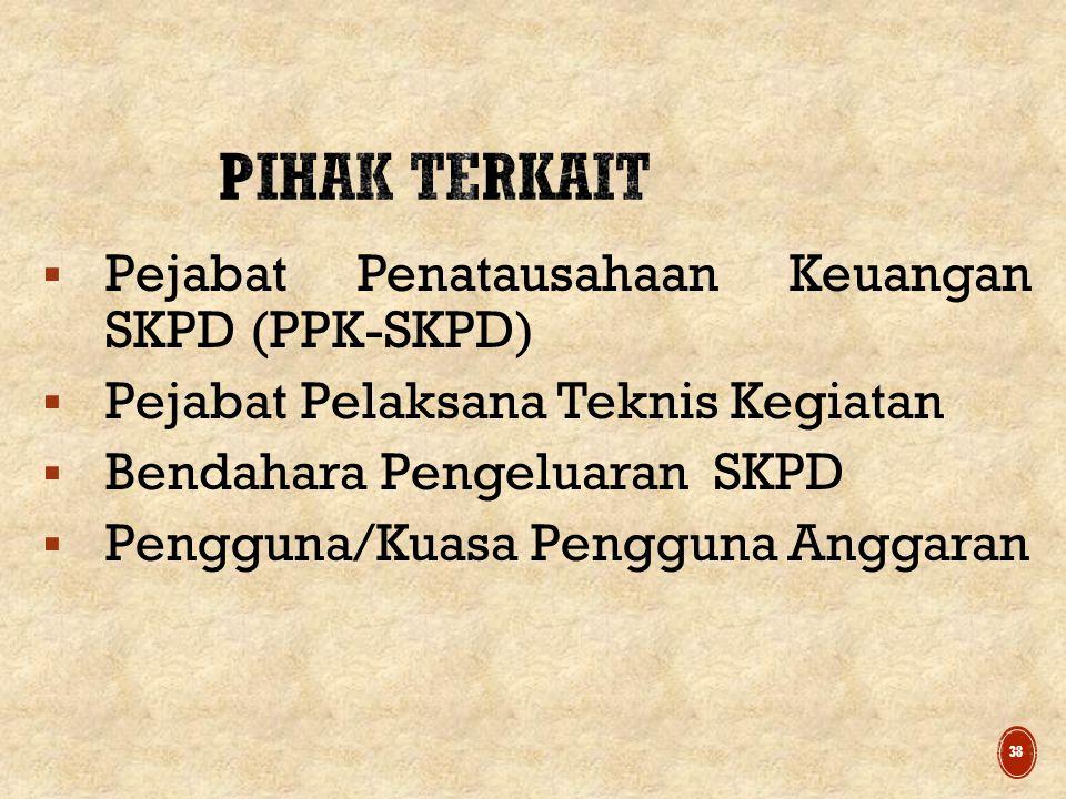 Pihak Terkait Pejabat Penatausahaan Keuangan SKPD (PPK-SKPD)