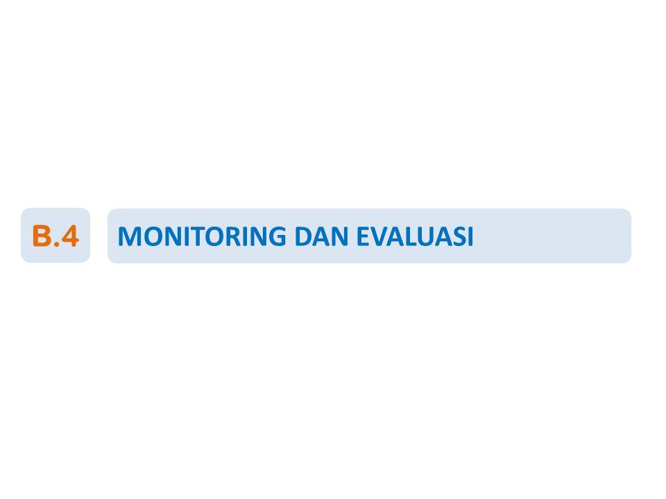 B.4 MONITORING DAN EVALUASI