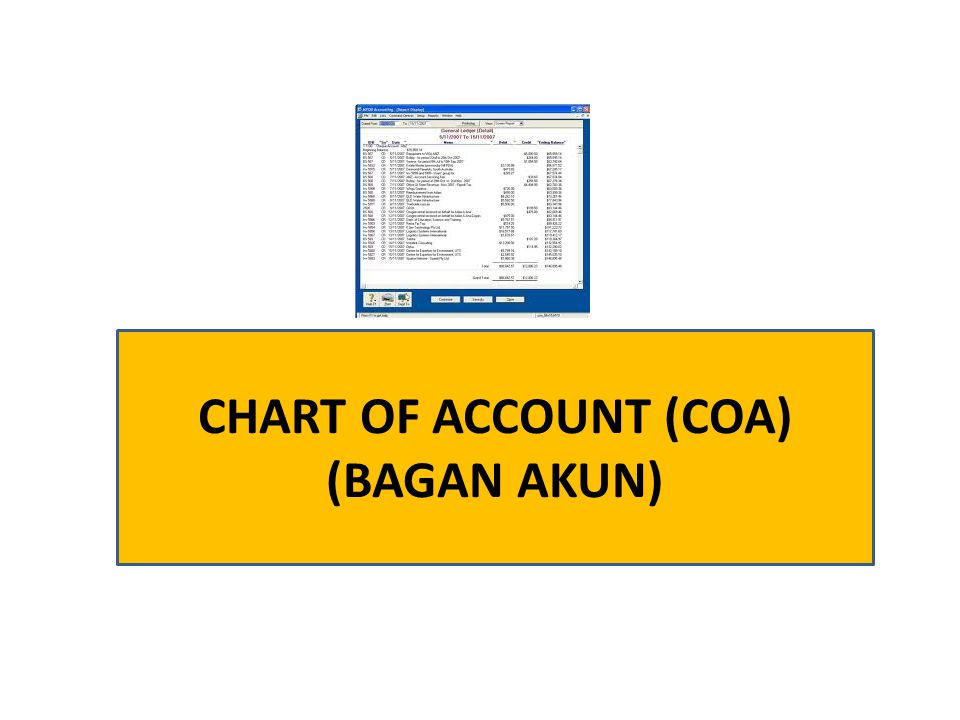CHART OF ACCOUNT (COA) (BAGAN AKUN)