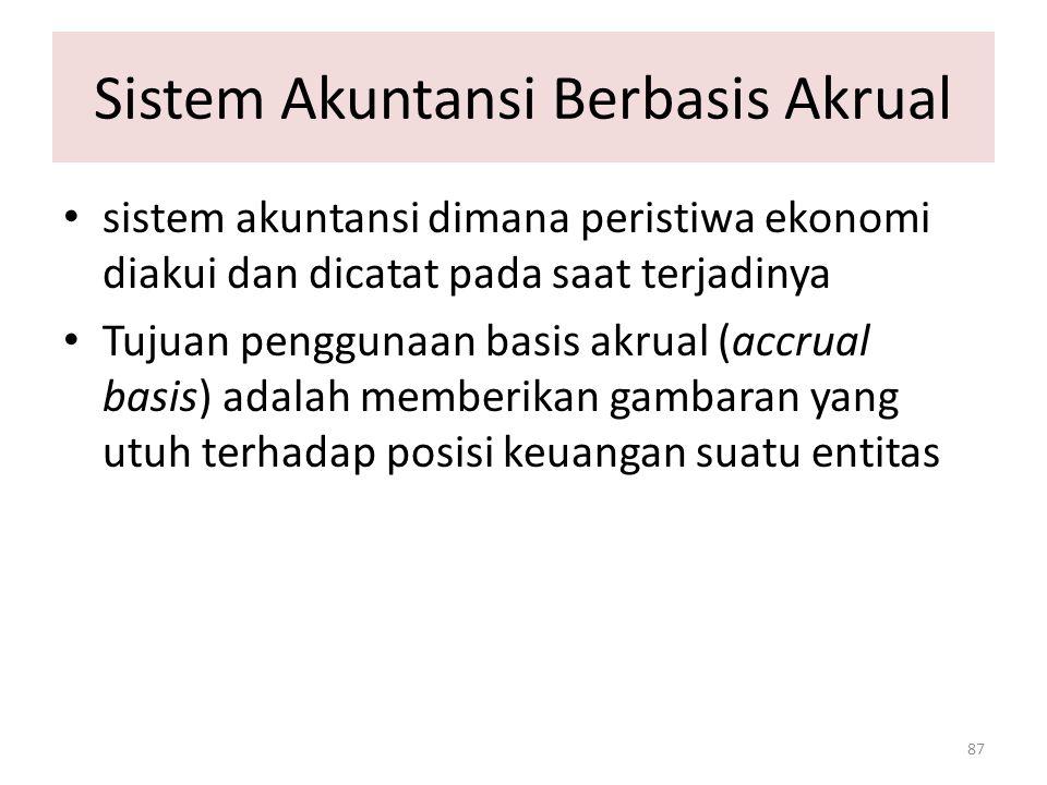Sistem Akuntansi Berbasis Akrual