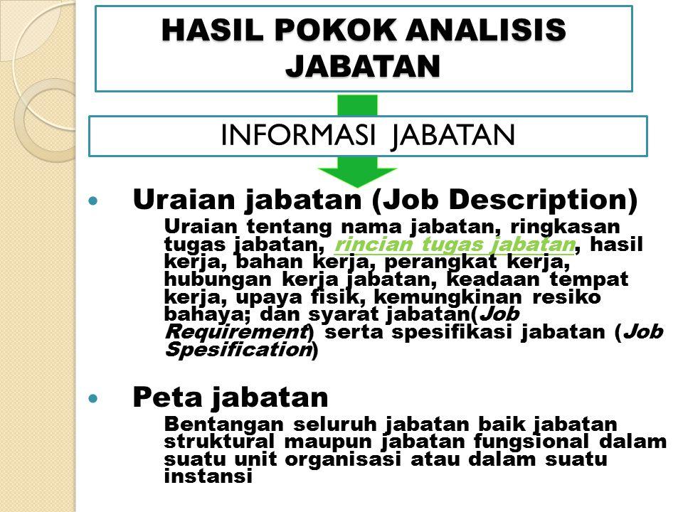 HASIL POKOK ANALISIS JABATAN