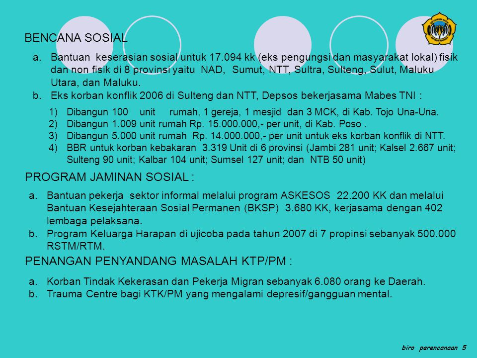 PROGRAM JAMINAN SOSIAL :