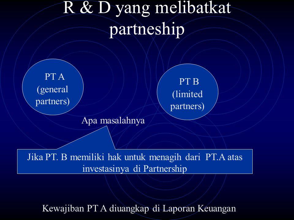 R & D yang melibatkat partneship