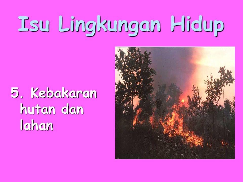 Isu Lingkungan Hidup 5. Kebakaran hutan dan lahan