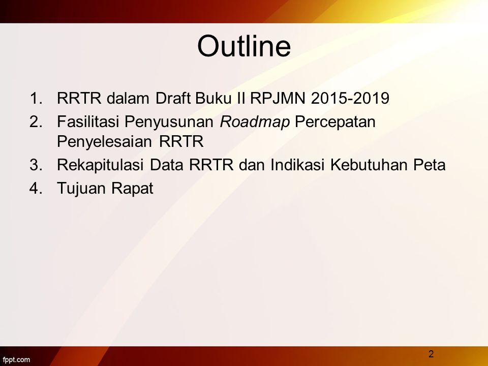Outline RRTR dalam Draft Buku II RPJMN 2015-2019