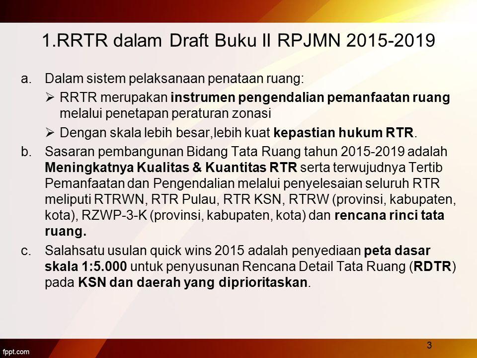 1.RRTR dalam Draft Buku II RPJMN 2015-2019