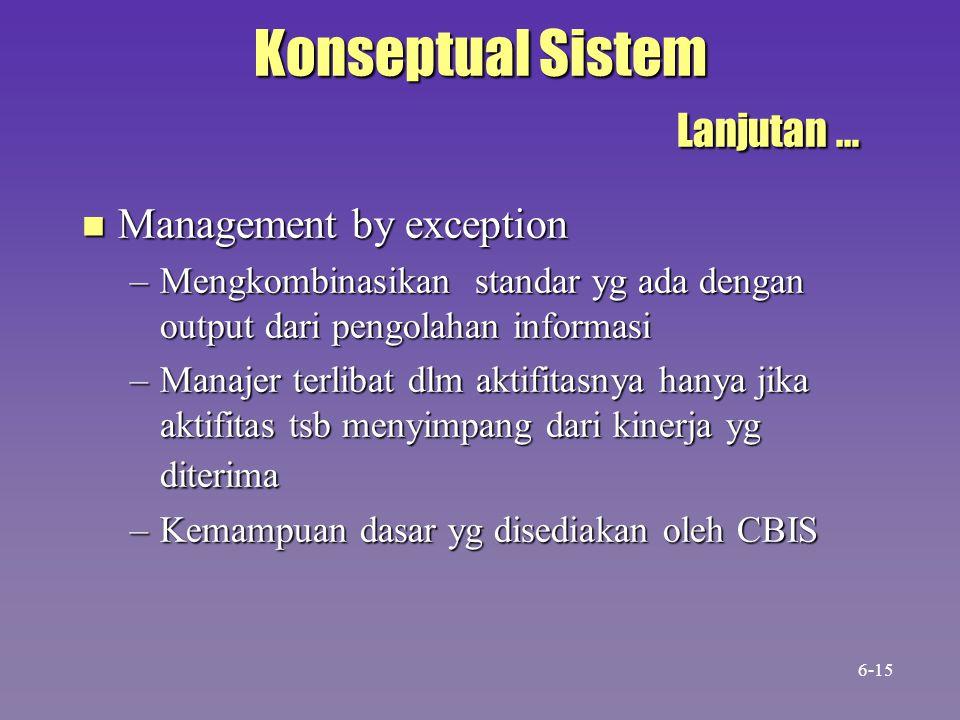 Konseptual Sistem Lanjutan …
