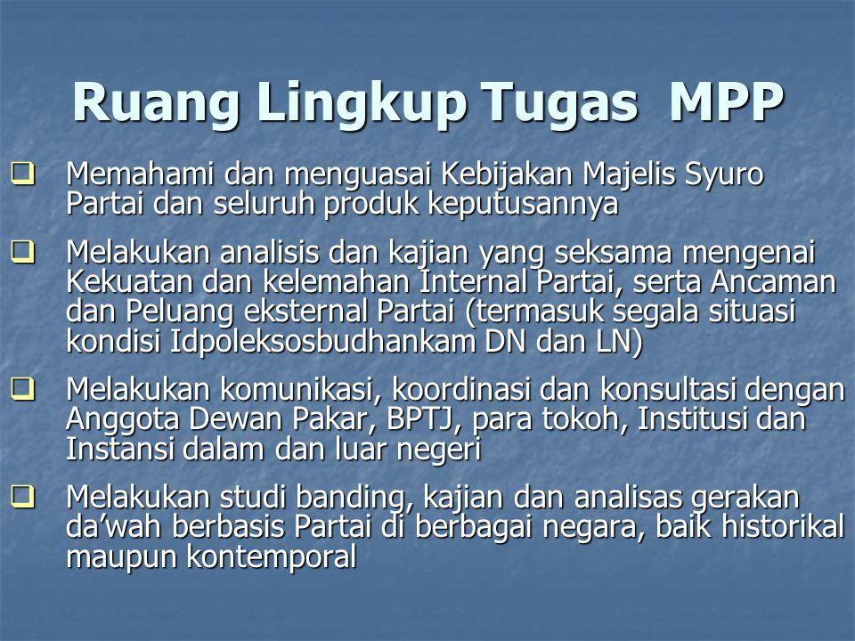 Ruang Lingkup Tugas MPP