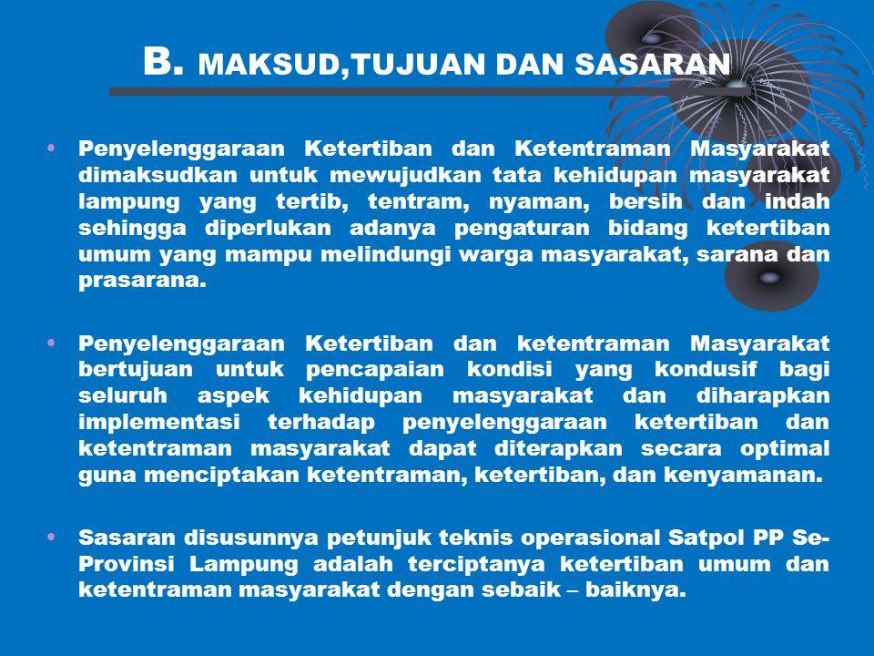 B. MAKSUD,TUJUAN DAN SASARAN