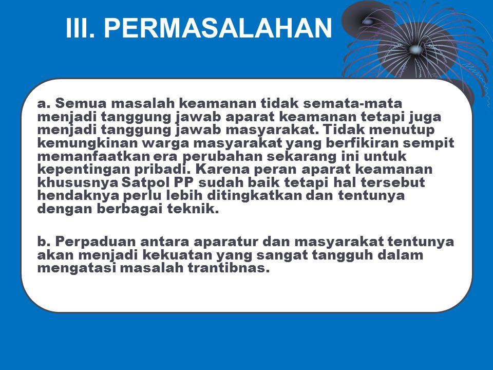 III. PERMASALAHAN