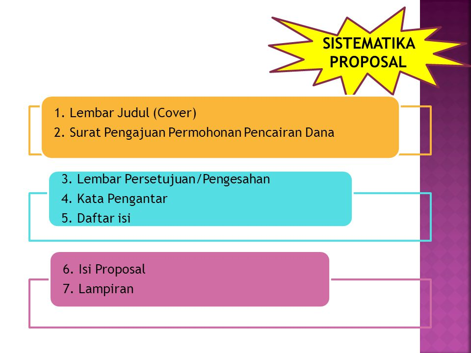 SISTEMATIKA PROPOSAL 1. Lembar Judul (Cover)
