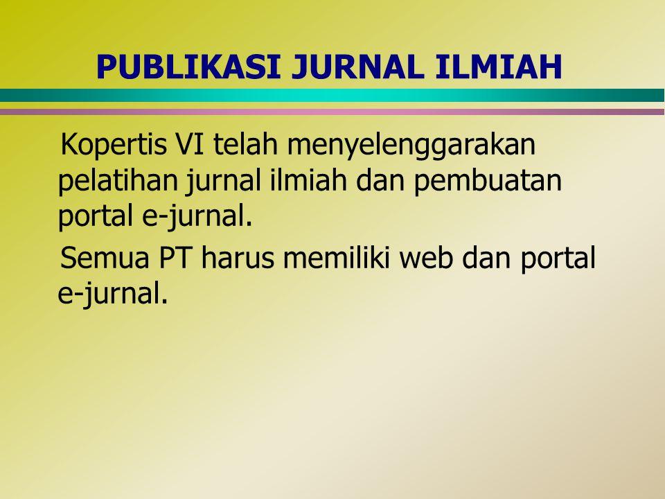 PUBLIKASI JURNAL ILMIAH